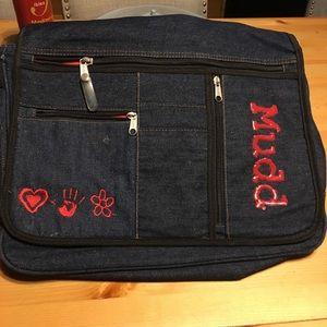 Mudd Denim Messenger Bag adjustable Strap